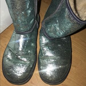 Ugg's Blue Sparkly Boots